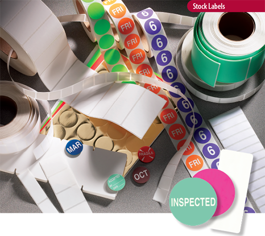 stock labels, thermal transfer labels, direct thermal labels
